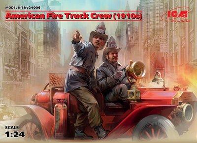 ICM 24006 AMERICAN FIRE TRUCK CREW (1910S) 1/24