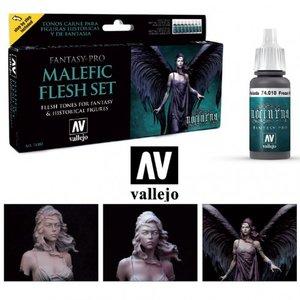 VALLEJO 74102 MALEFIC FLESH SET