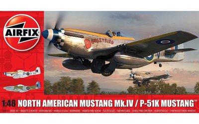 AIRFIX 05137 NORTH AMERICAN MUSTANG Mk.IV/P-51K MUSTANG™ 1/48